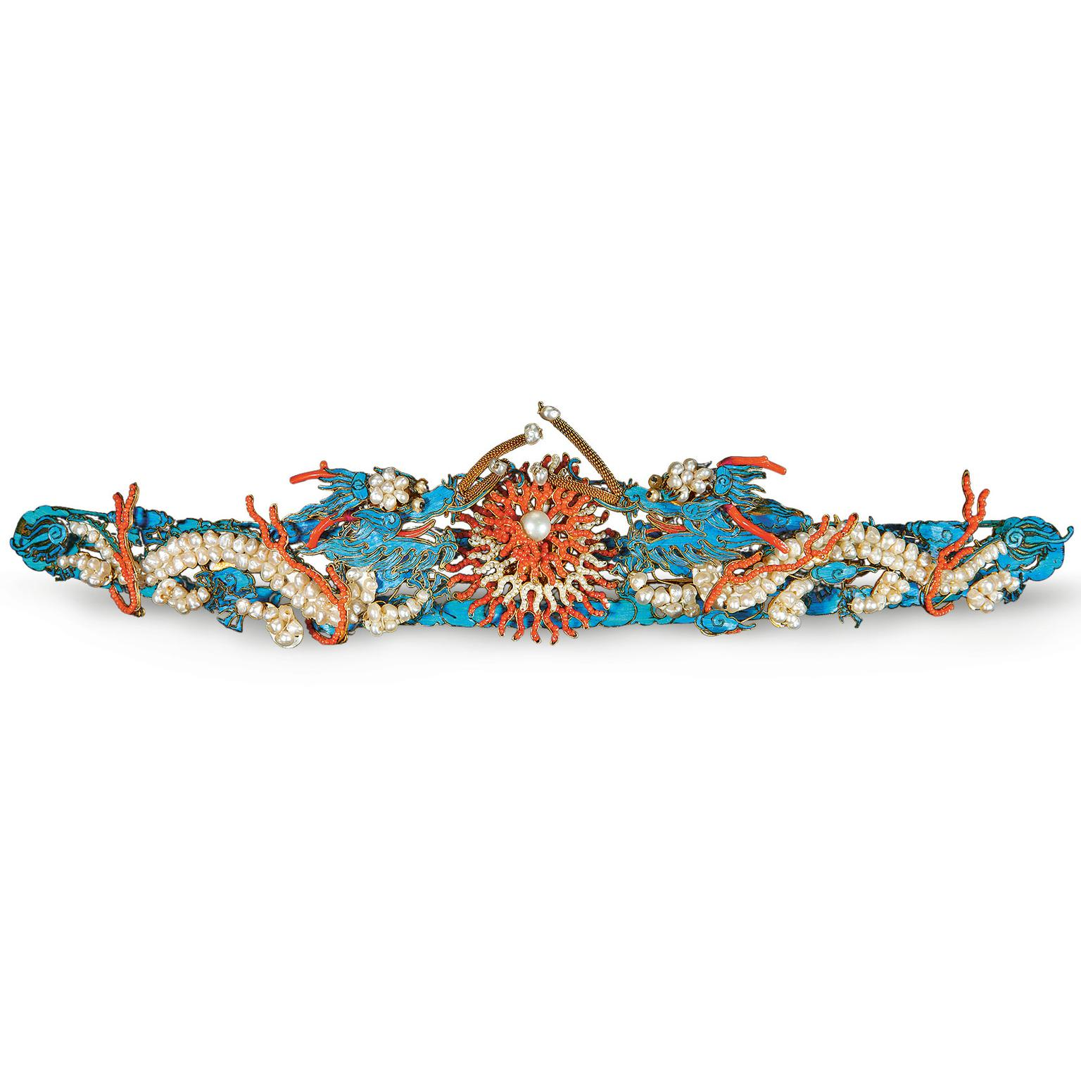 Hair pin with dragon motifs from the Qing Dynasty