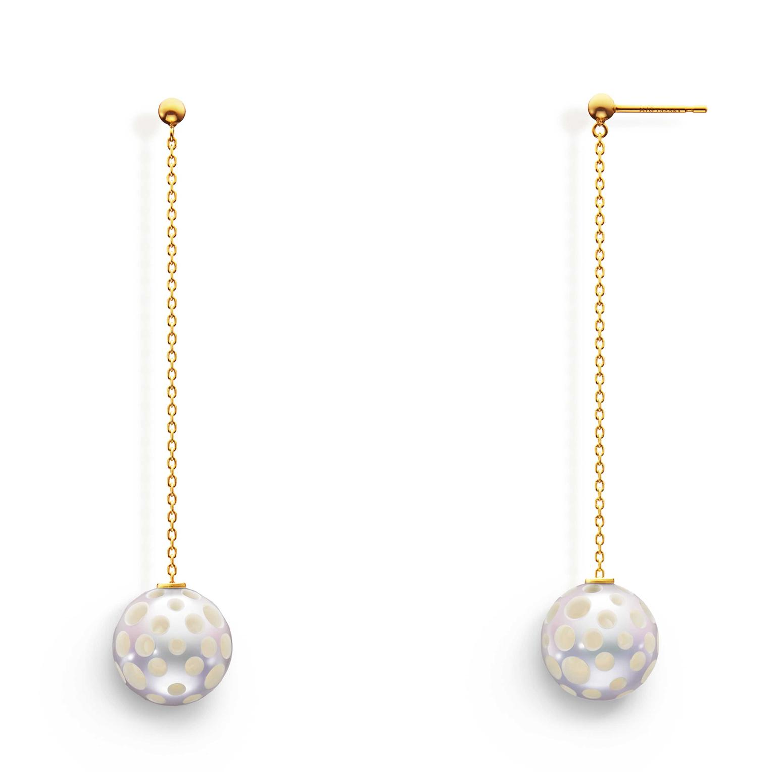 MG Tasaki Drilled pearl earrings