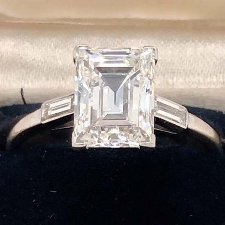 Cartier Dialmond engagement ring at Spicer Warin