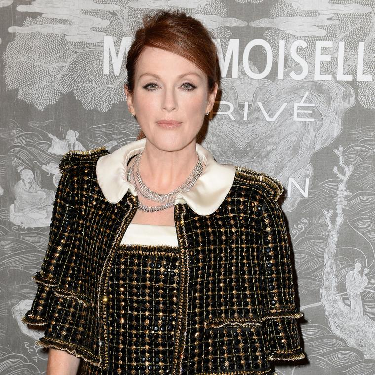 Julianne Moore Mademoiselle Prive Exhibition Saatchi Gallery picture by Dave Benett