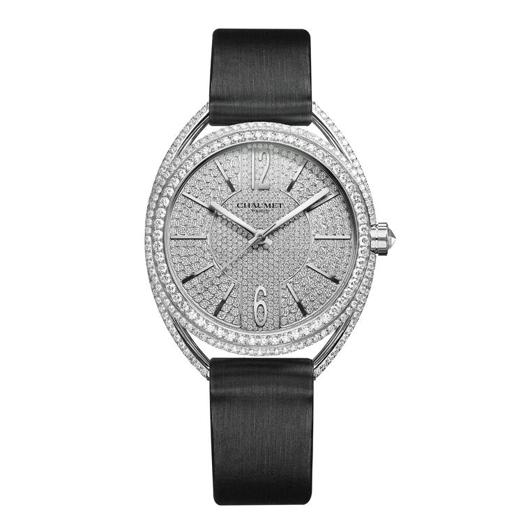 33mm Liens de Chaumet watch in white gold with diamonds