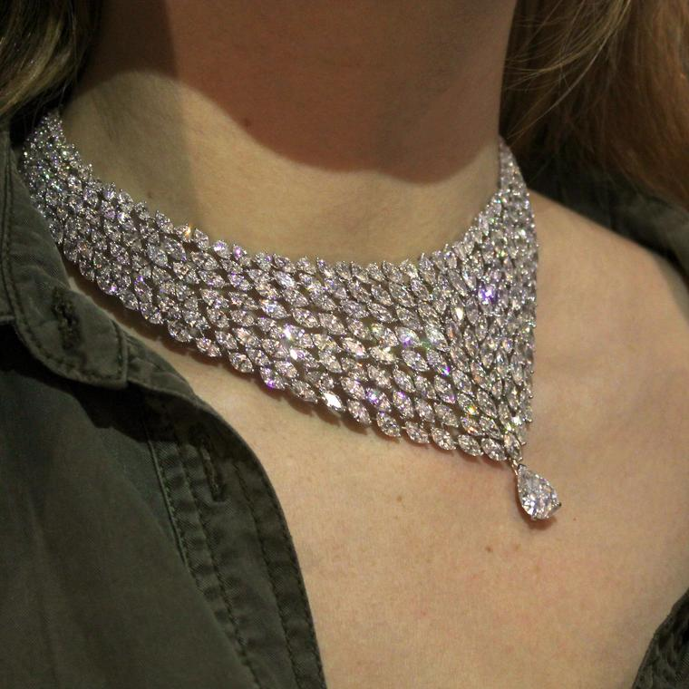 Messika diamond collar necklace