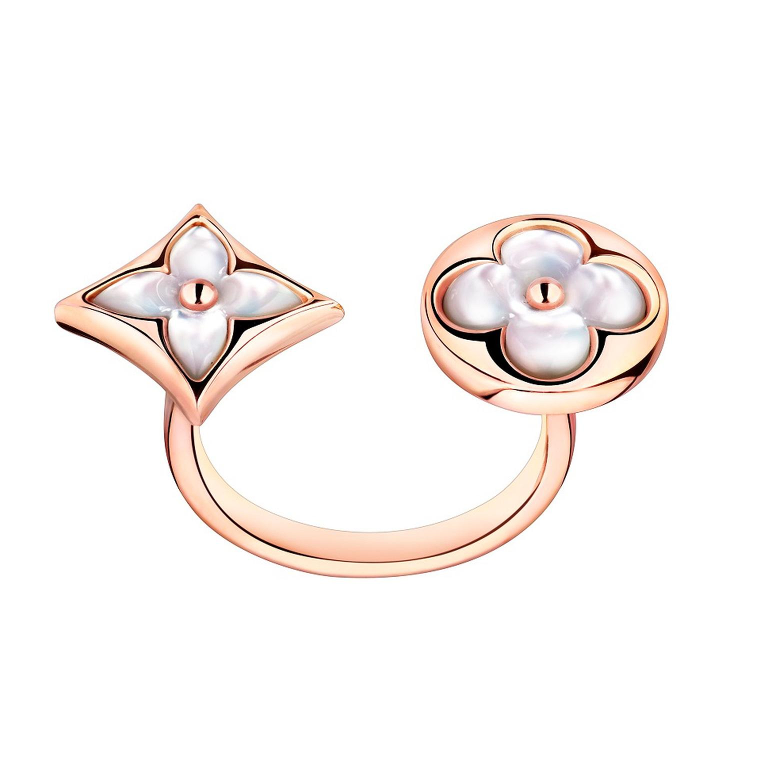 Louis Vuitton Color Blossom BB mother of pearl between finger ring