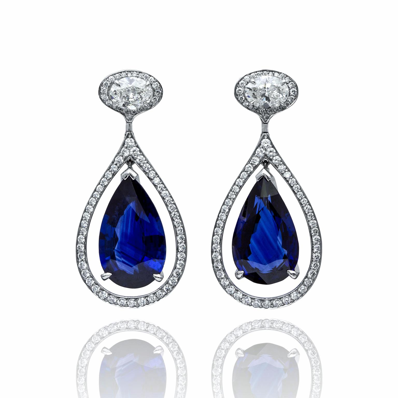 Boodles platinum and diamond earrings