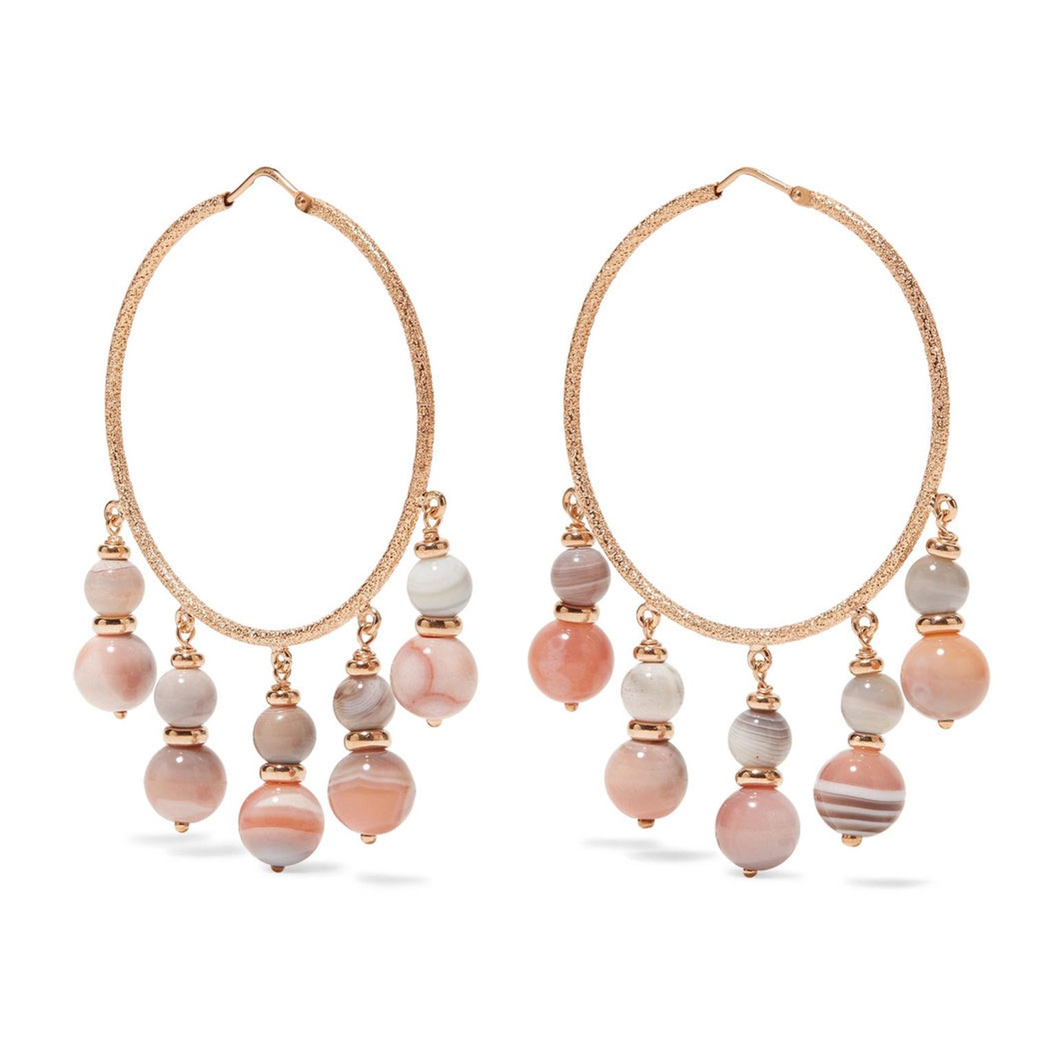 Carolina Bucci recharmed rose gold and agate hoop earrings