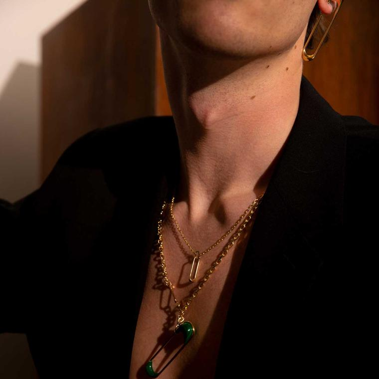 Hannah Martin New Act of Rebellion unisex jewels on man