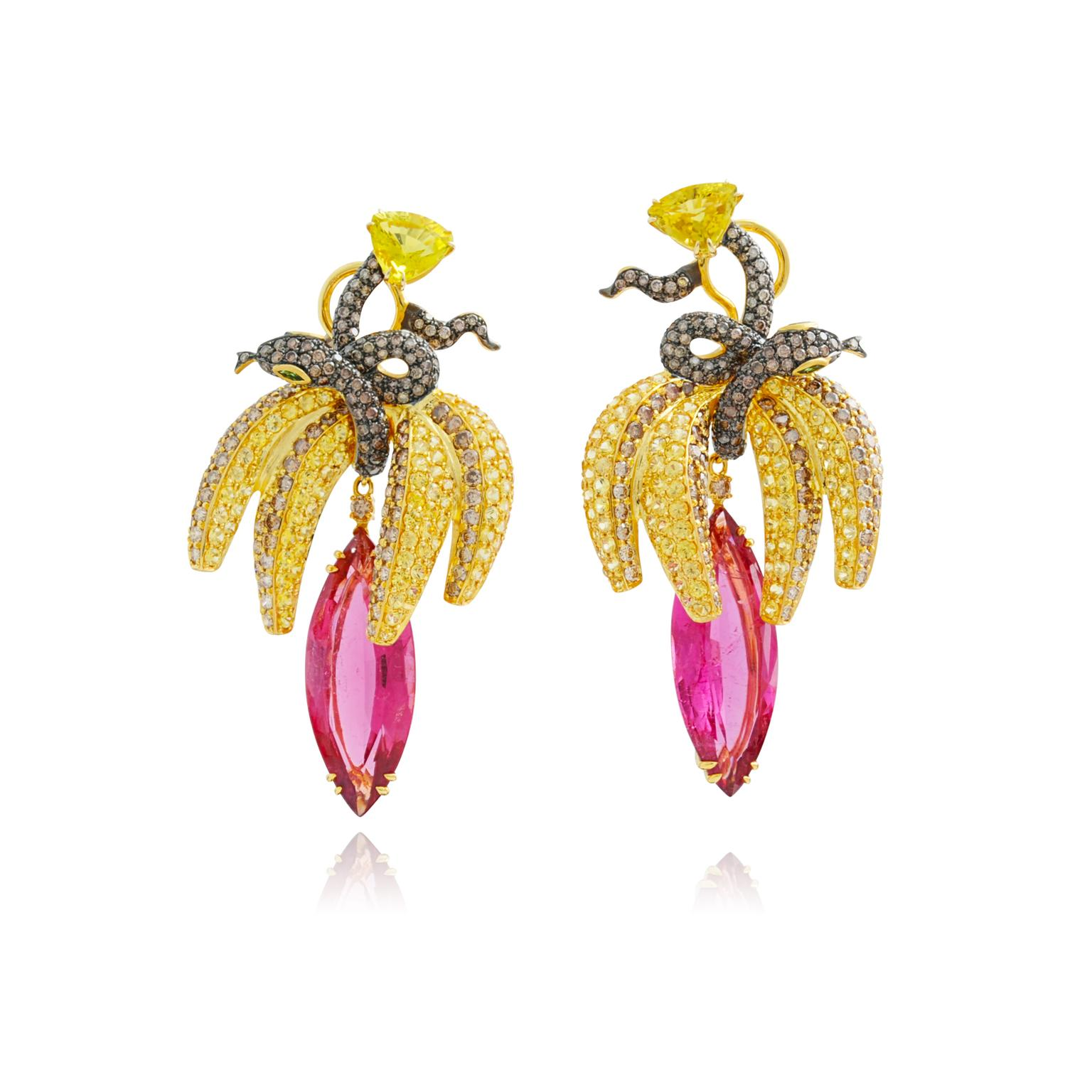 Lydia Courteille Fruits of my Passion pink tourmaline earrings