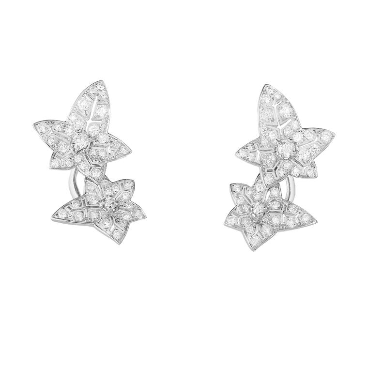 Boucheron Nature Triomphante Lierre de Paris earrings