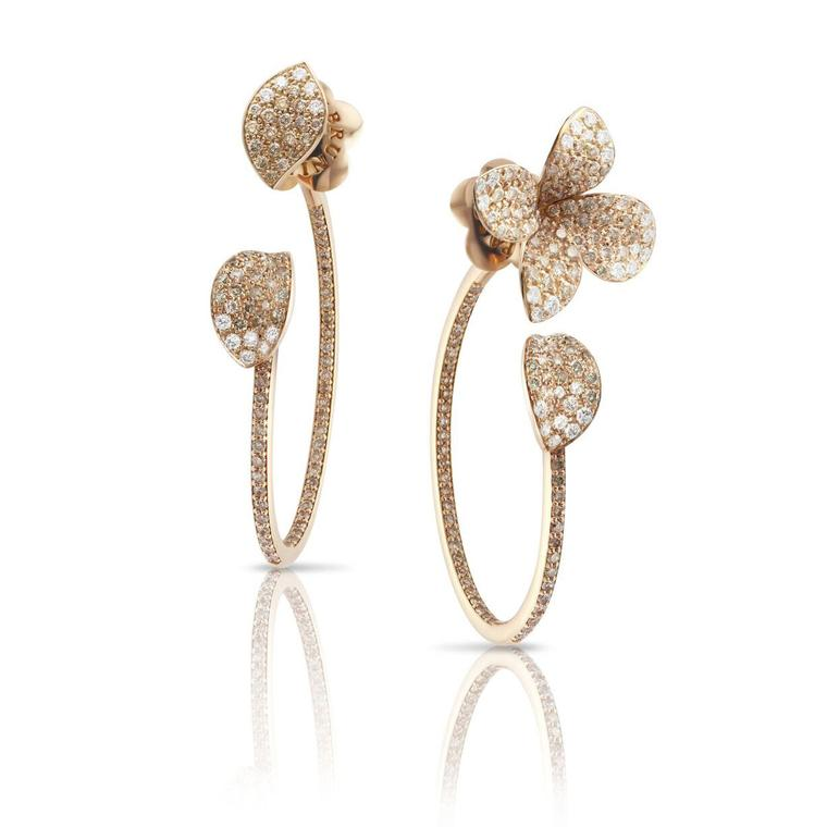 Petit Garden diamond earrings in rose gold