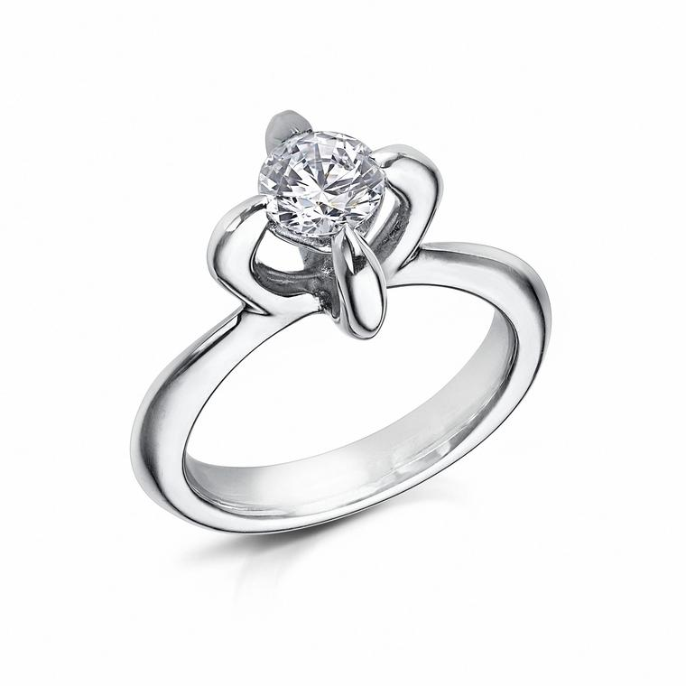 Arctic Circle Diamonds four-claw diamond ring