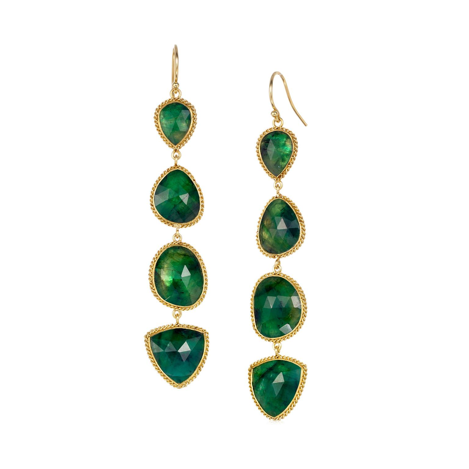 Sara Freedenfeld Amali emerald earrings