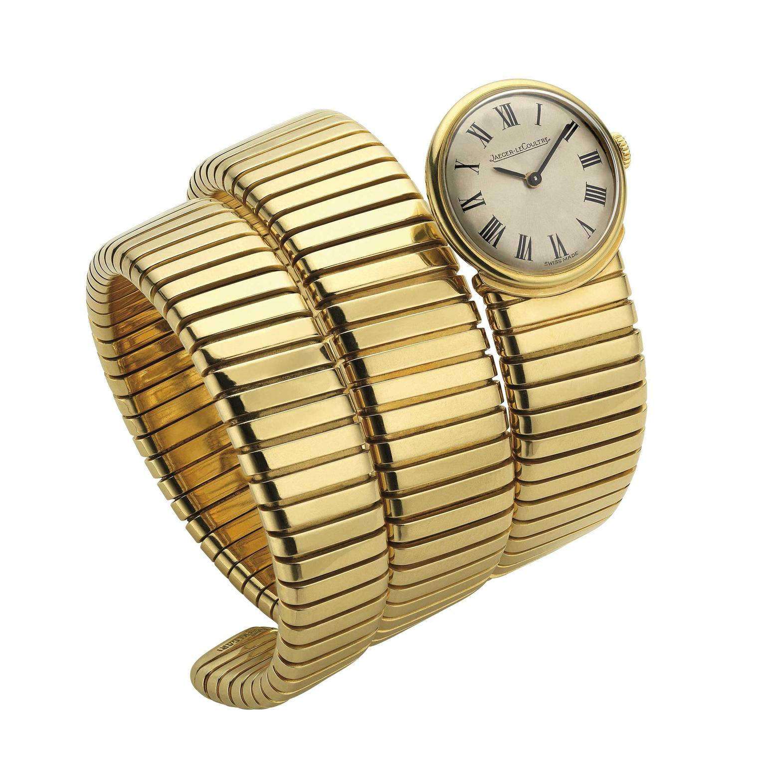 Bulgari Tubogas bracelet watch in yellow gold from circa 1955