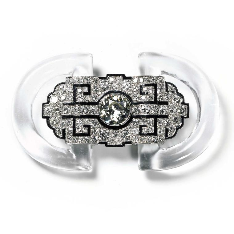 Cartier Collection rock crystal, enamel and diamond brooch
