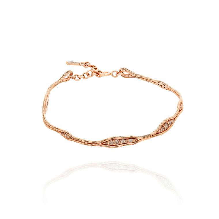Fernando Jorge Fluid rose gold diamond bracelet