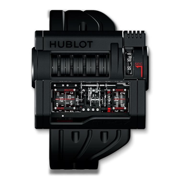 The Hublot MP 07 watch has 42 days of power reserve