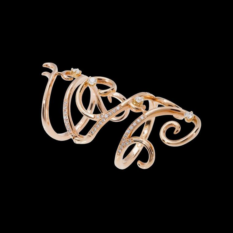 Dionea Orcini Nissa rose gold ring with diamonds