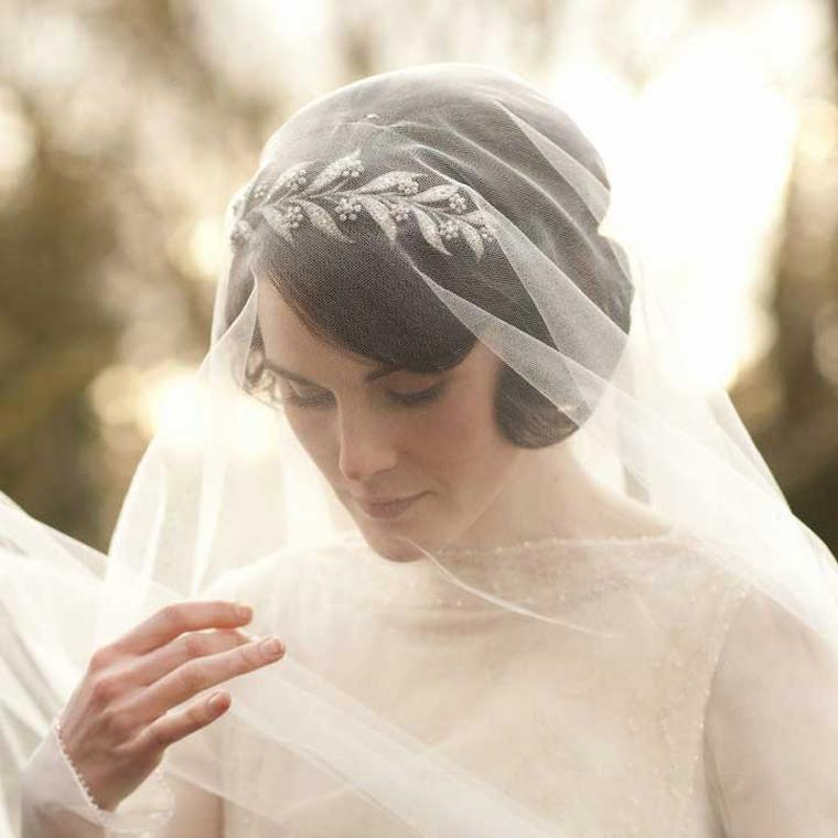 Mary Crawley bridal tiara in Downton Abbey