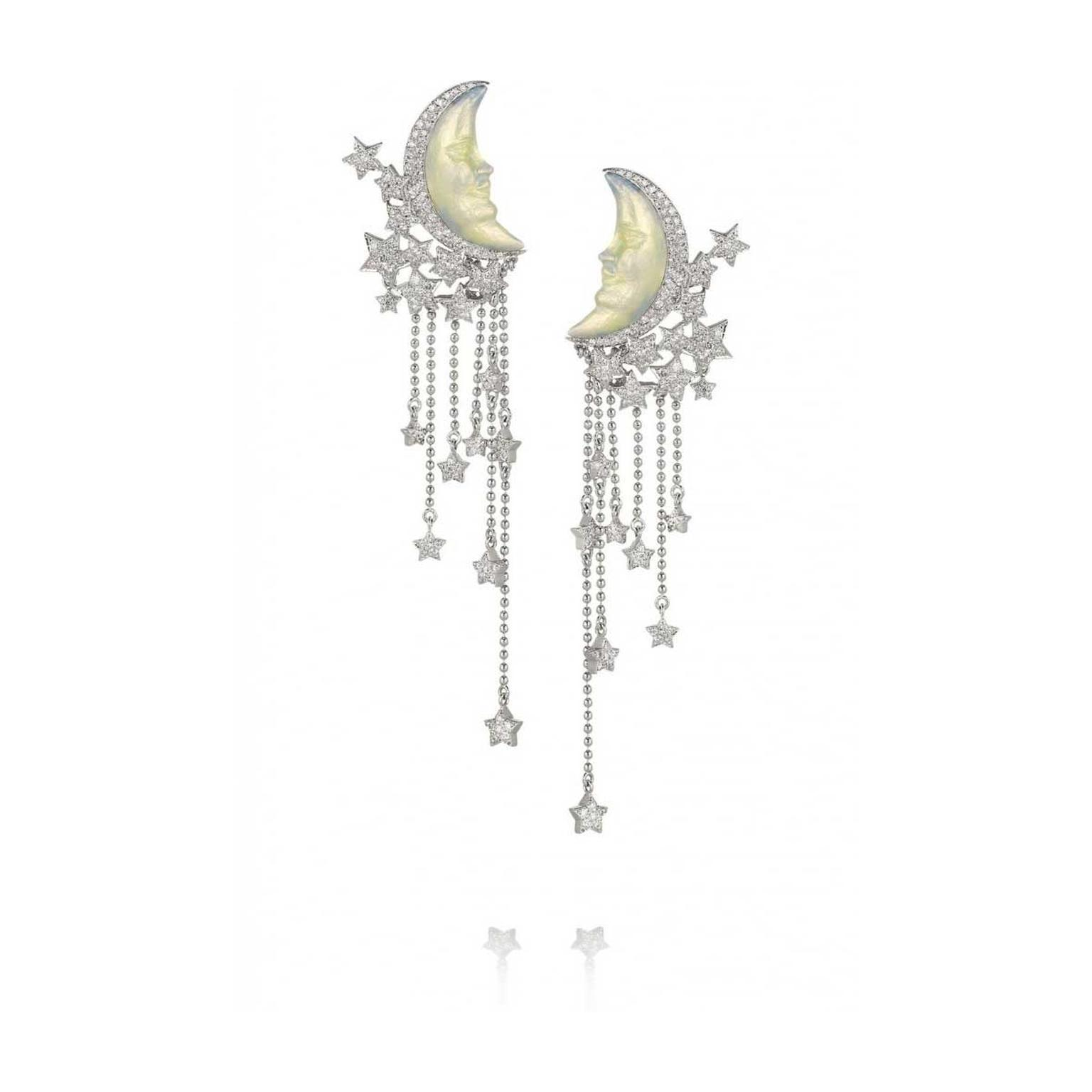 Lydia Courteille Moon earrings