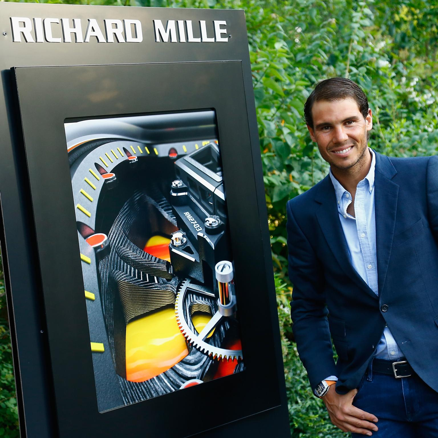 Rafael Nadal next to a Richard Mille billboard