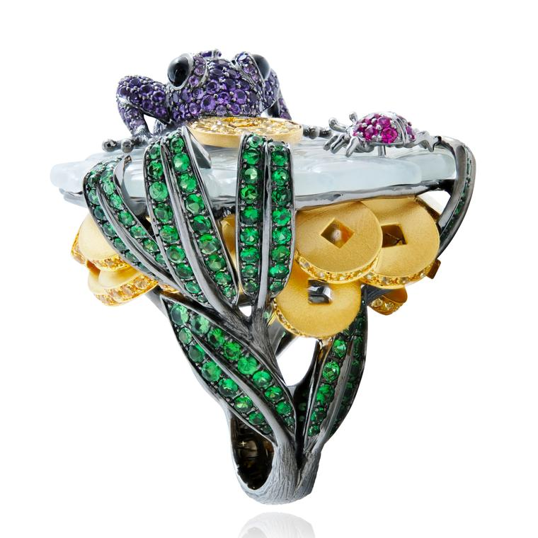 Lydia Courteille Automne a Pekin Good Luck Frog ring