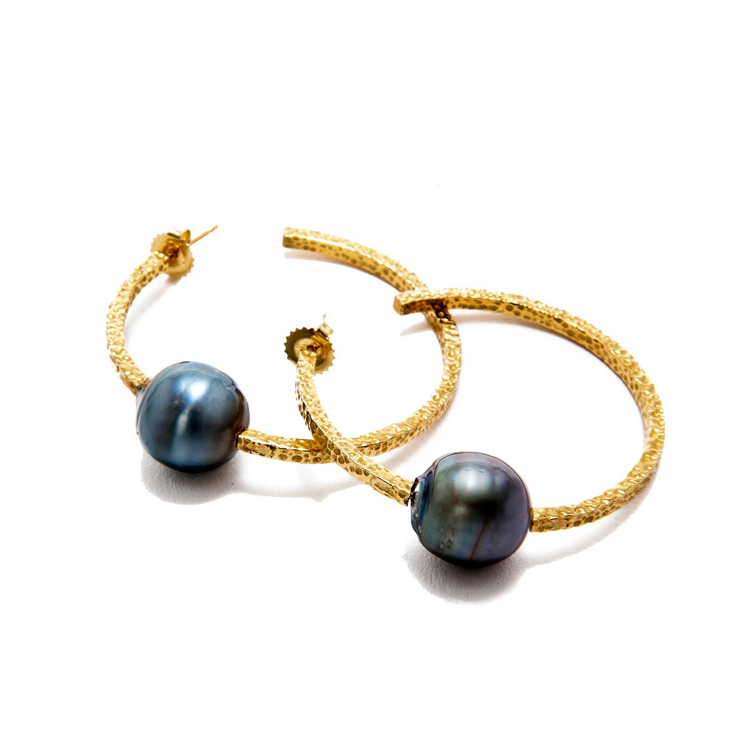 Jordan Alexander Tahitian pearl earrings