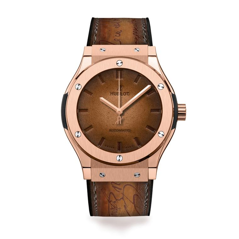 Classic Fusion Berluti Scritto brown watch