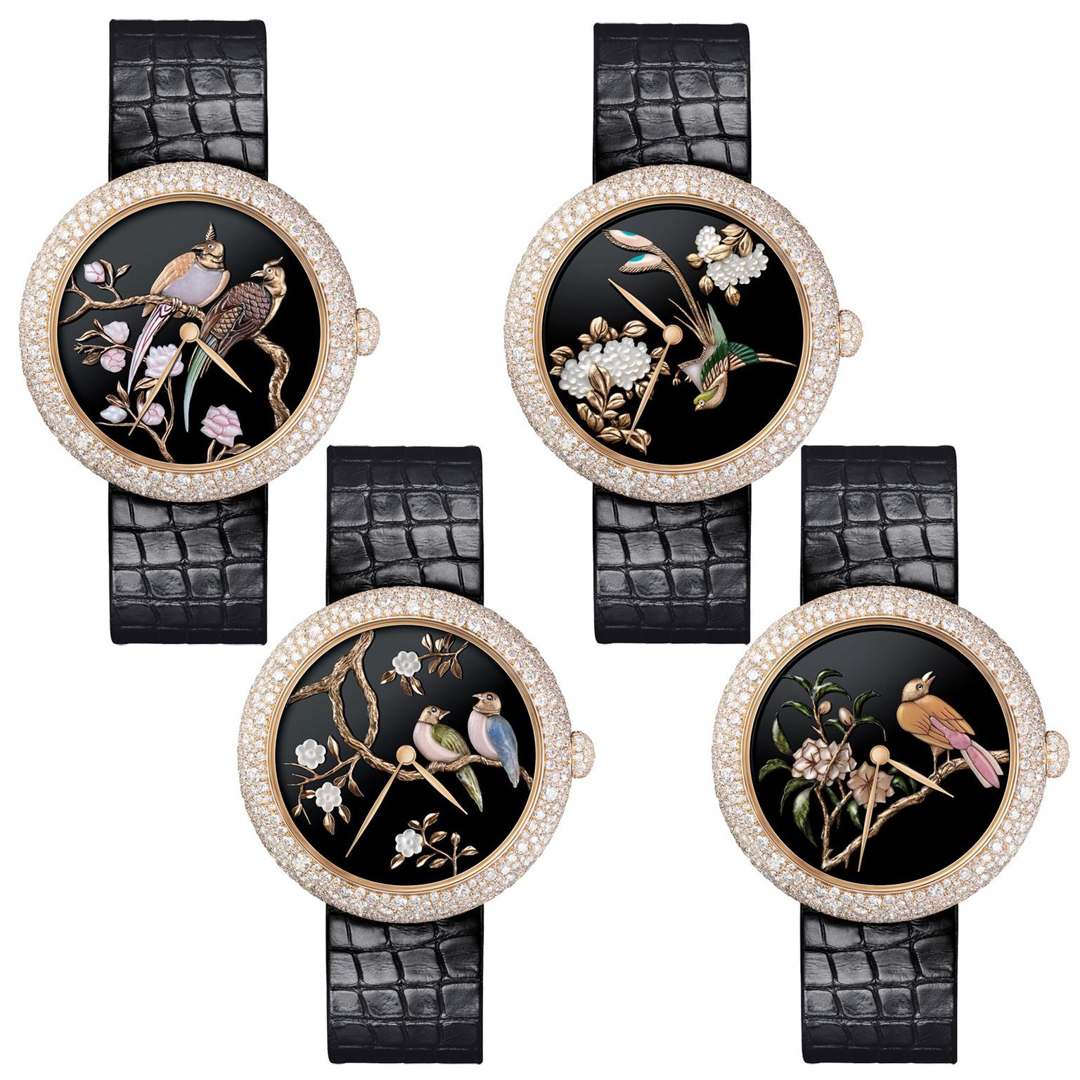 Chanel Mademoiselle Prive Coromandel Glyptic watches