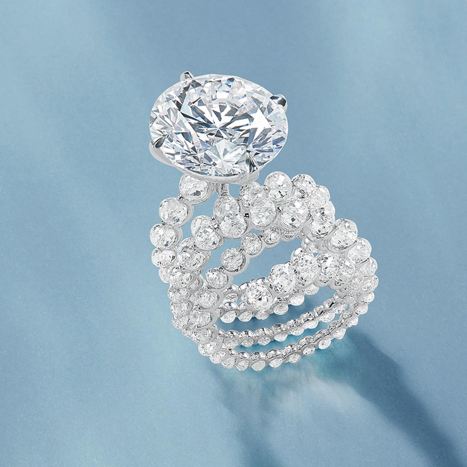 Lot 648 Fountain of Diamonds ring by Feng J
