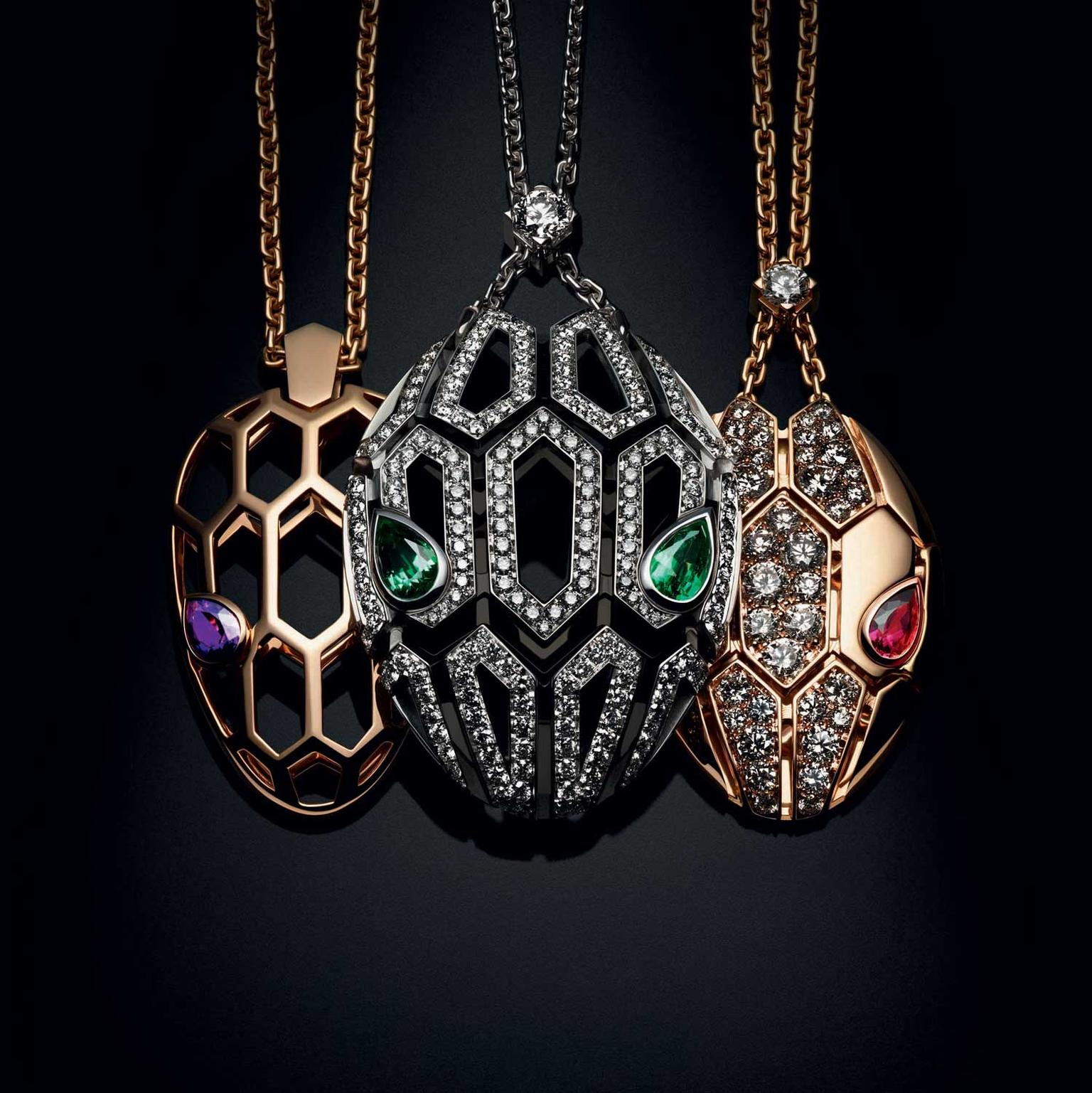 Bulgari Serpenti Seduttori group shot necklaces
