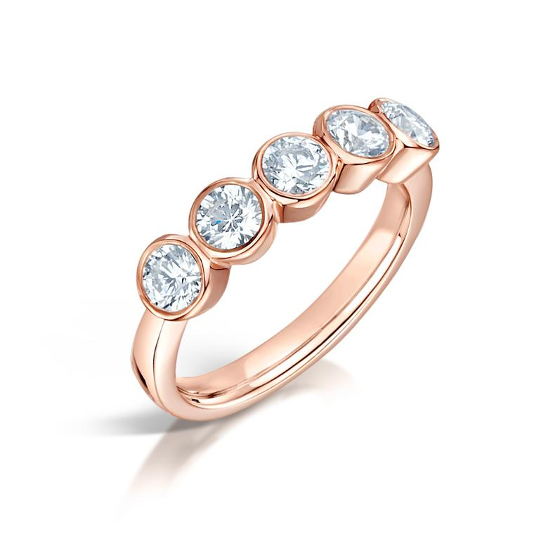 Hockley Mint Fairtrade rose gold and diamond engagement ring