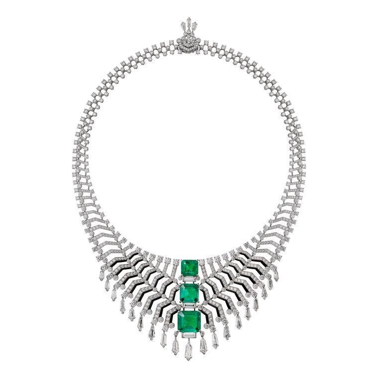 Cartier Magicien Oracle Colombian emerald necklace