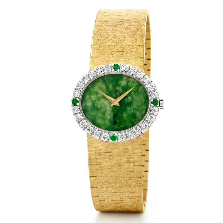 Jackie Kennedy's original Piaget watch with a jade dial