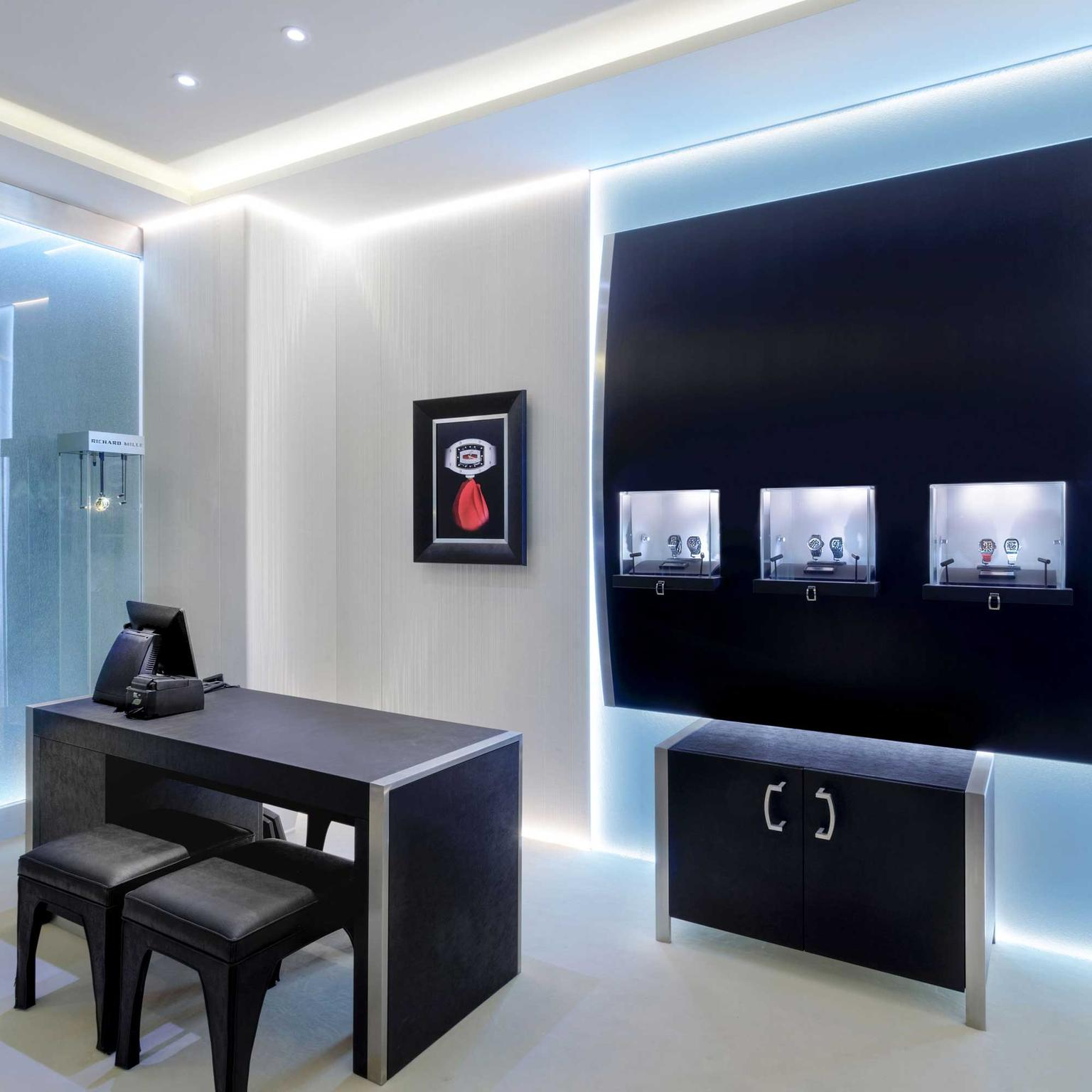 Richard Mille boutique interior at Harrods