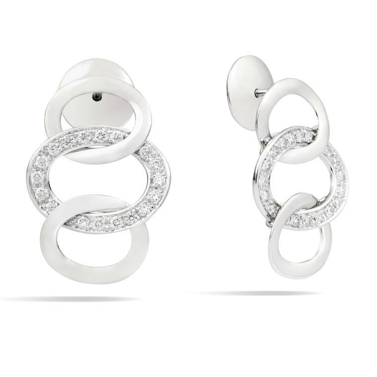 Pomellato Brera white gold earrings