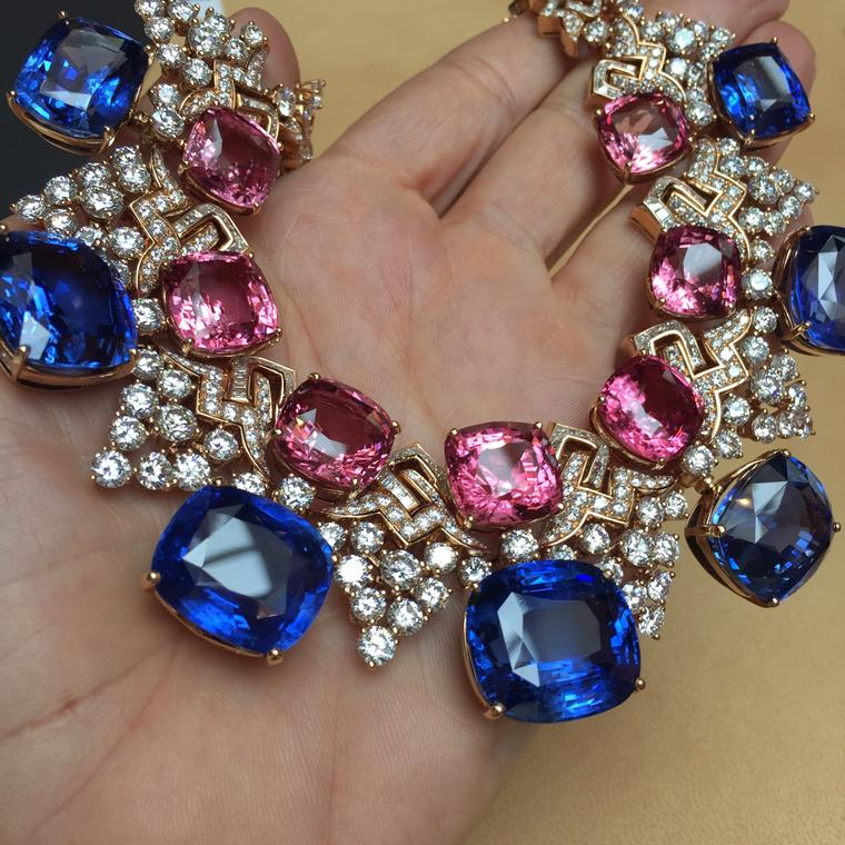 Bulgari sapphire and spinel necklace
