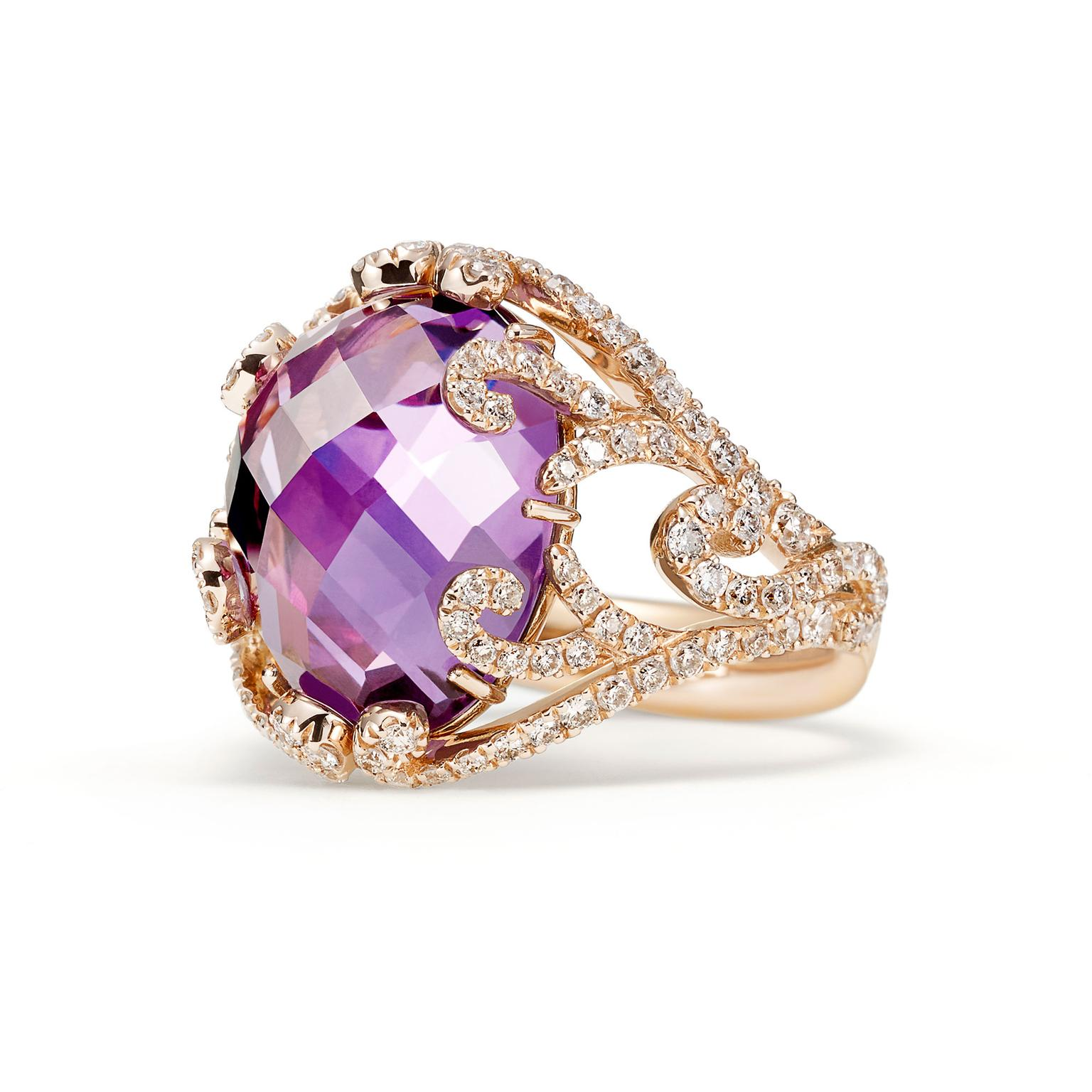 Sarah Ho amethyst ring for Willam & Sons