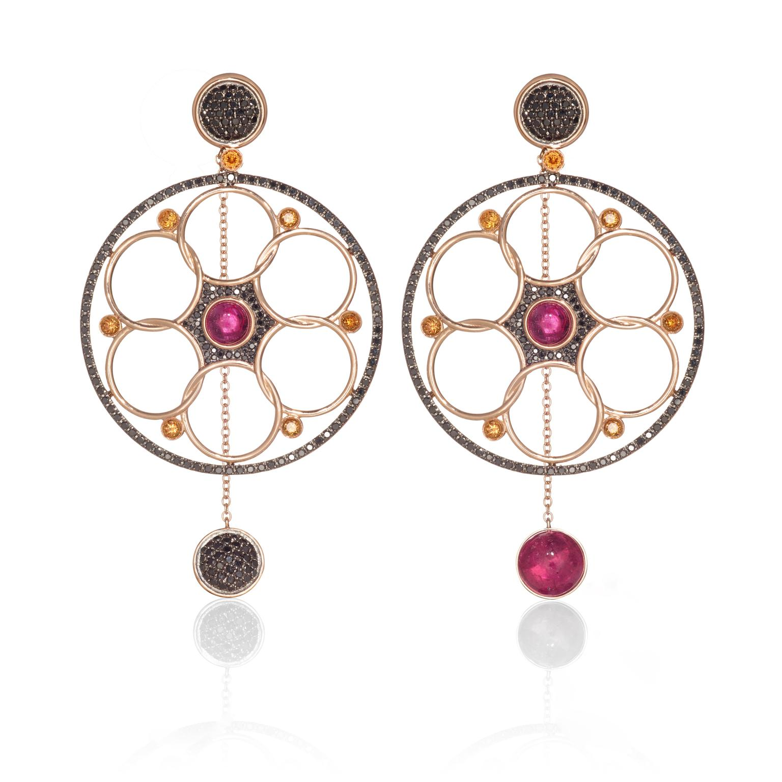 Lily Gabriella Rubellite Damali earrings