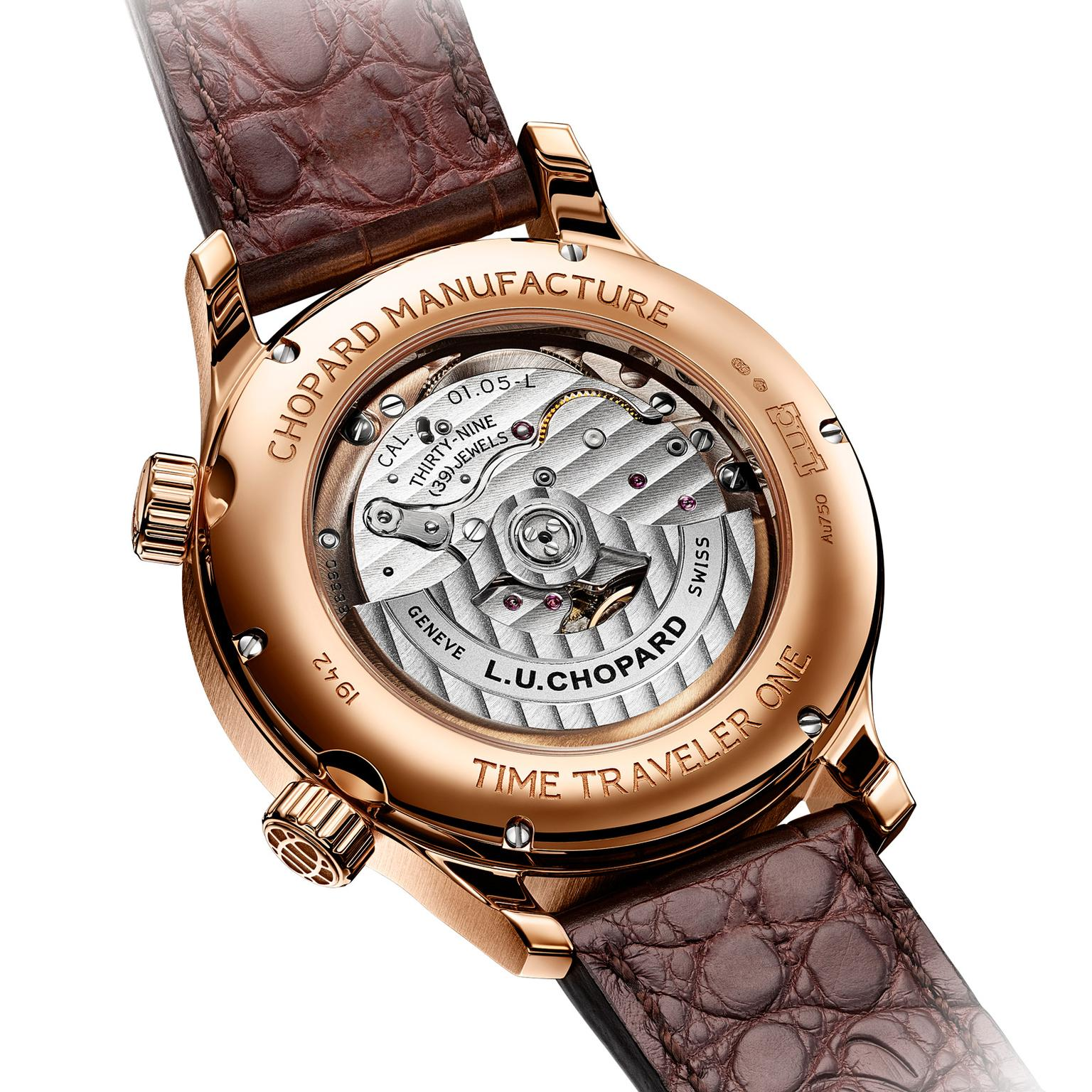 Chopard L.U.C Time Traveler One rose gold movement