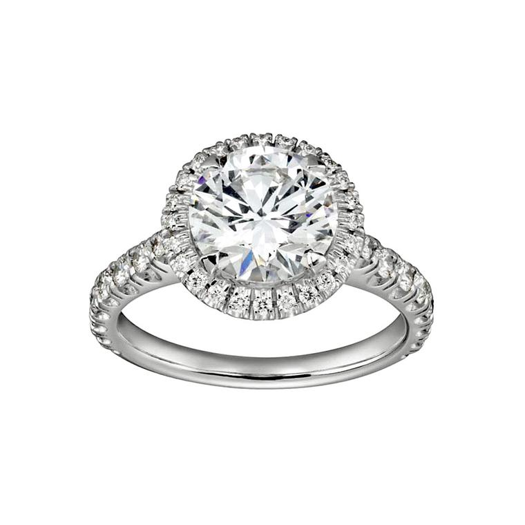 Halo-set Destinée Cartier diamond ring