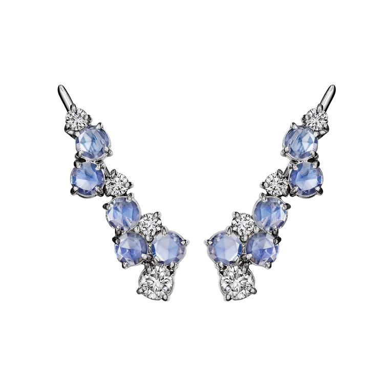 Madstone Design Melting Ice moonstone ear climbers