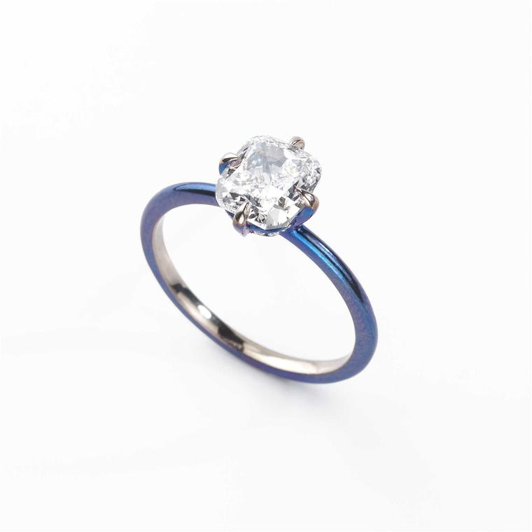 Glenn Spiro small diamond ring