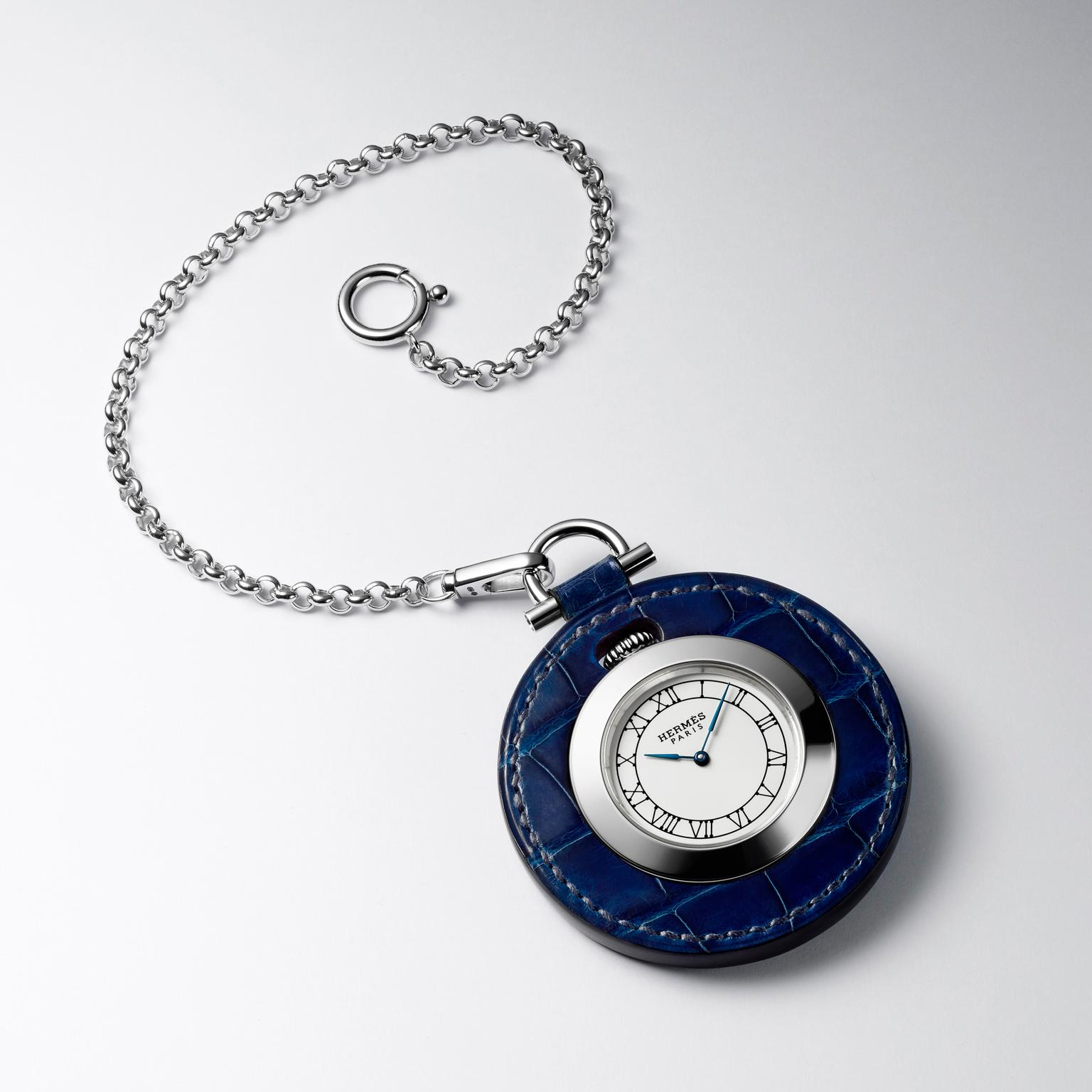 Hermès Pocket Plein Cuir pocket watch