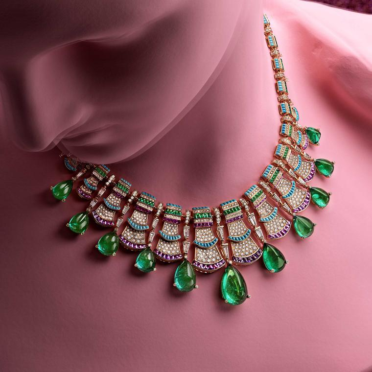 Precious Ruffles necklace from Bulgari Wild Pop high jewellery collection 2018 in pink gold