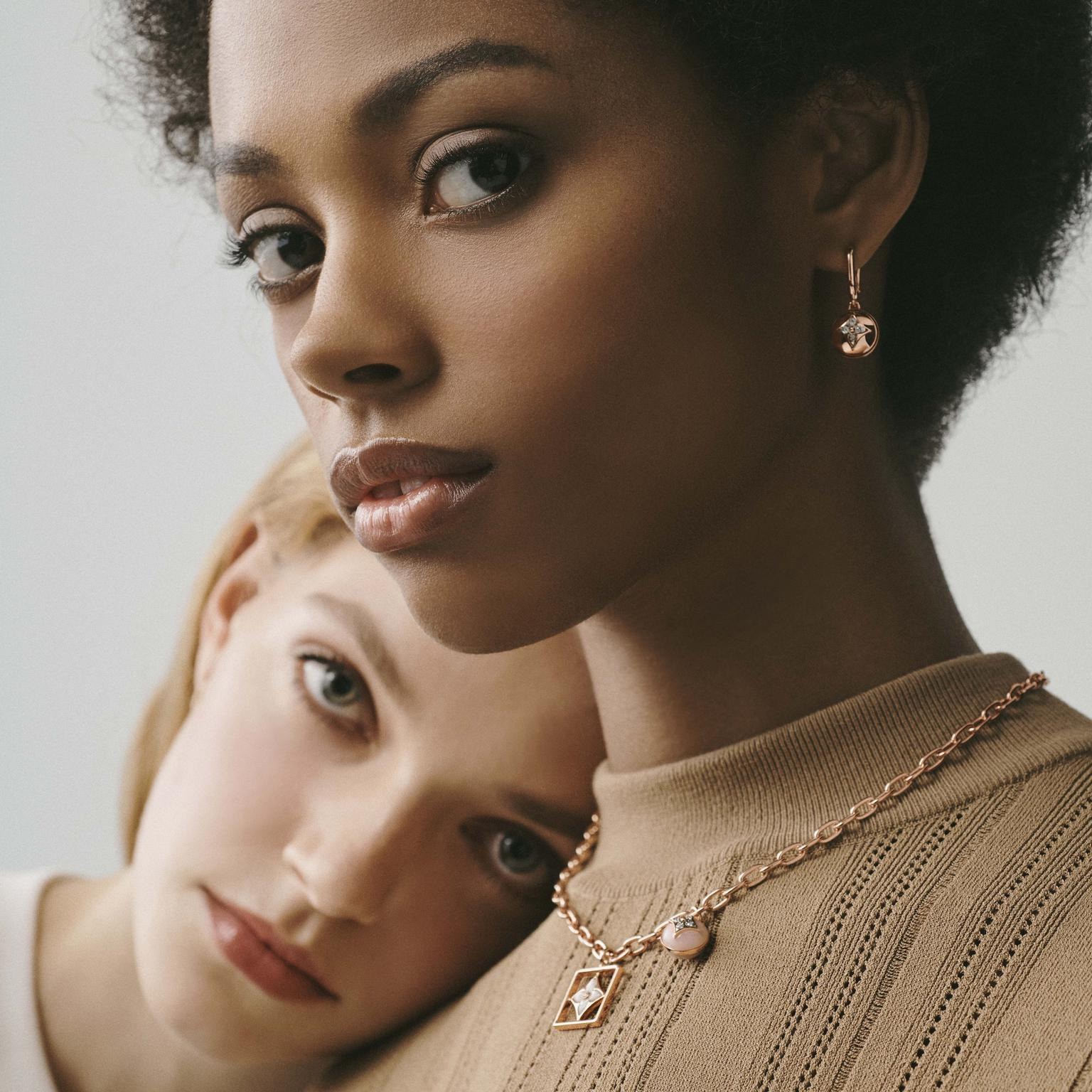 Louis Vuitton B.Blossom necklace and earrings on models
