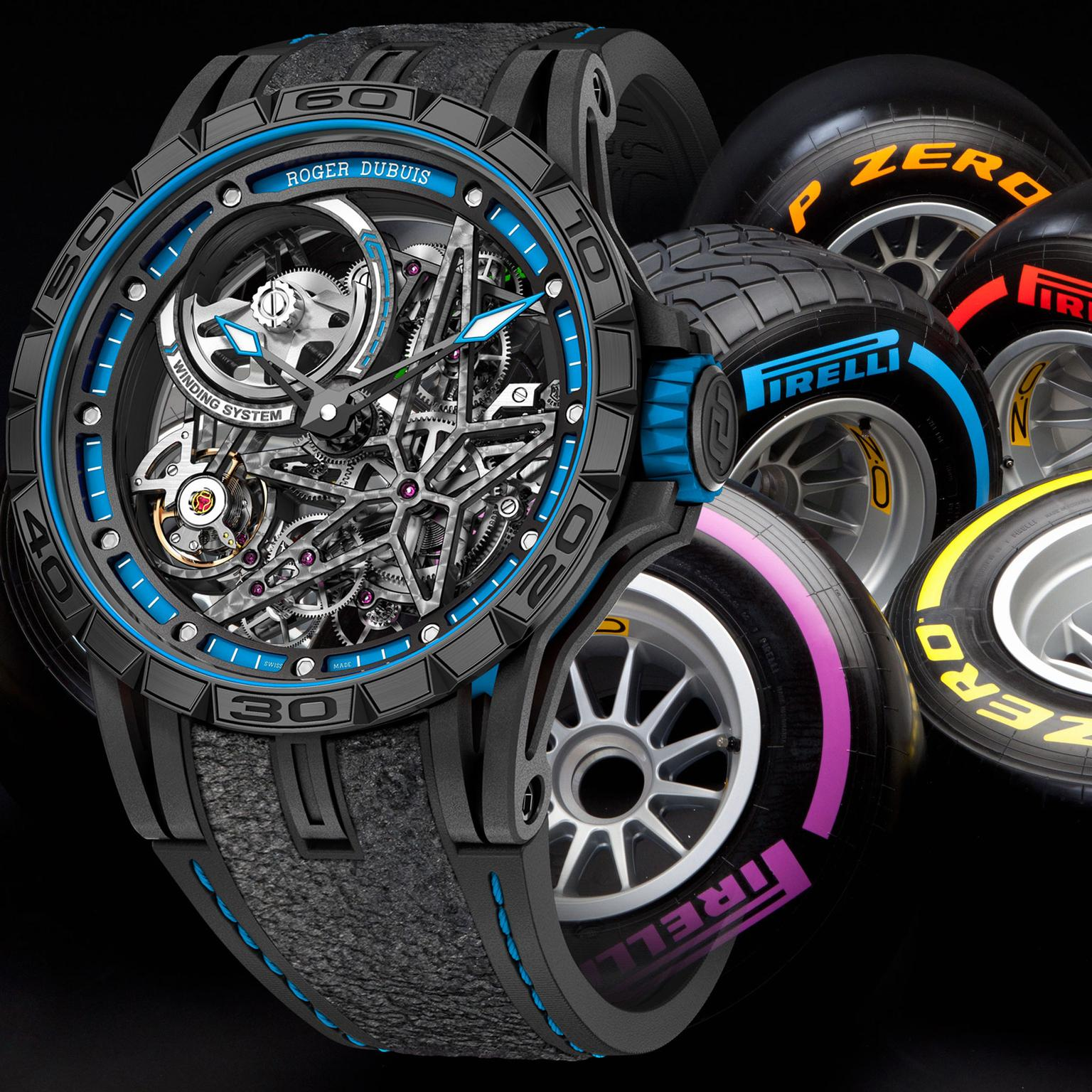 Roger Dubuis teams up with Pirelli for Excalibur Spider models