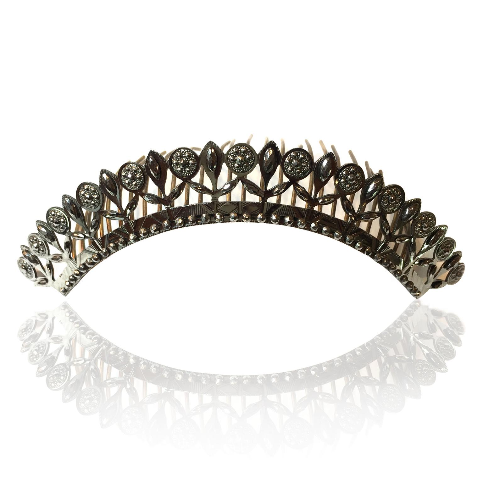 Spare Room Antiques cut-steel tiara
