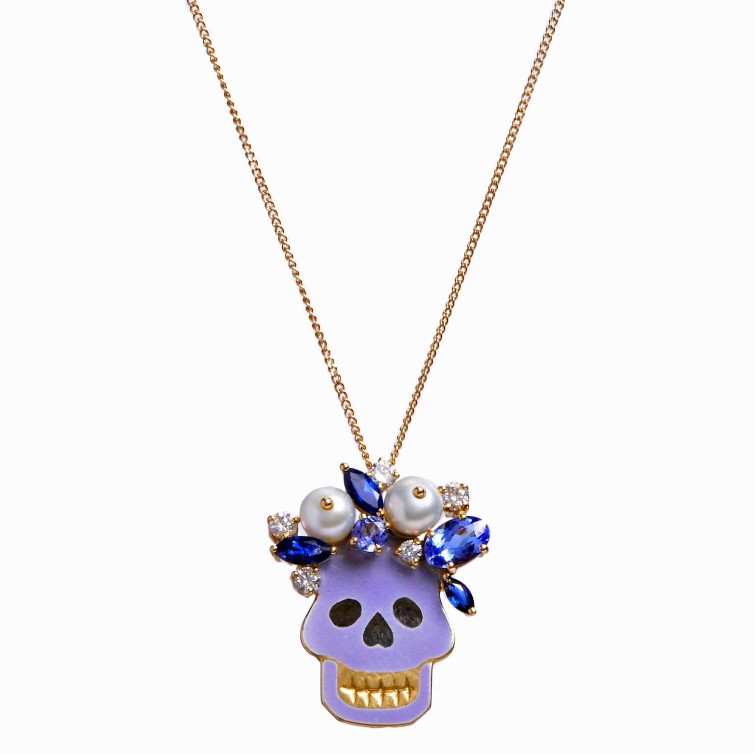 Holly Dyment skull pendant