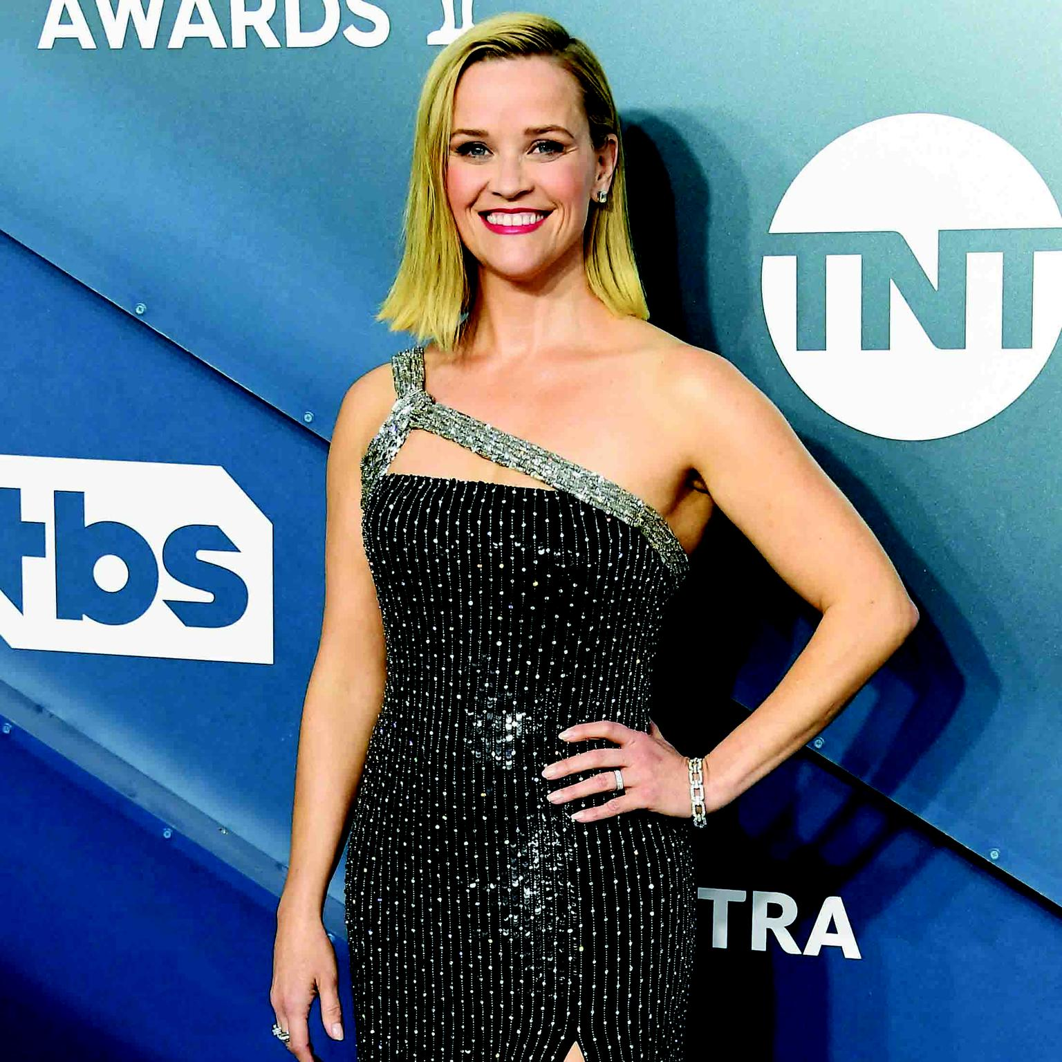 Reese Witherspoon Harry Winston jewels SAG Awards 2020