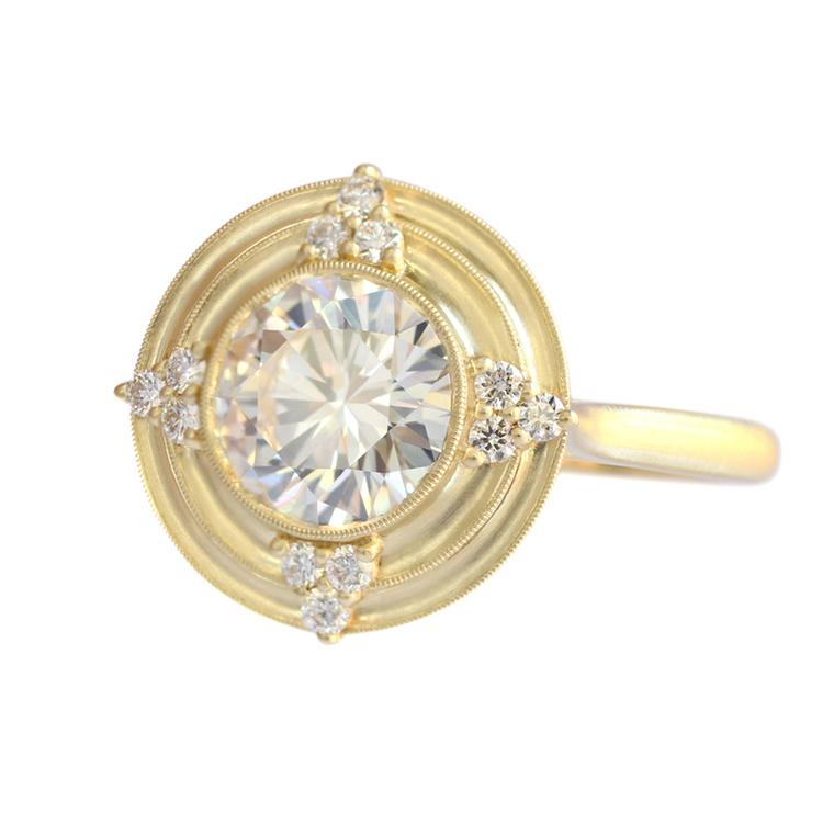Erika Winters Thea halo vintage-style engagement ring