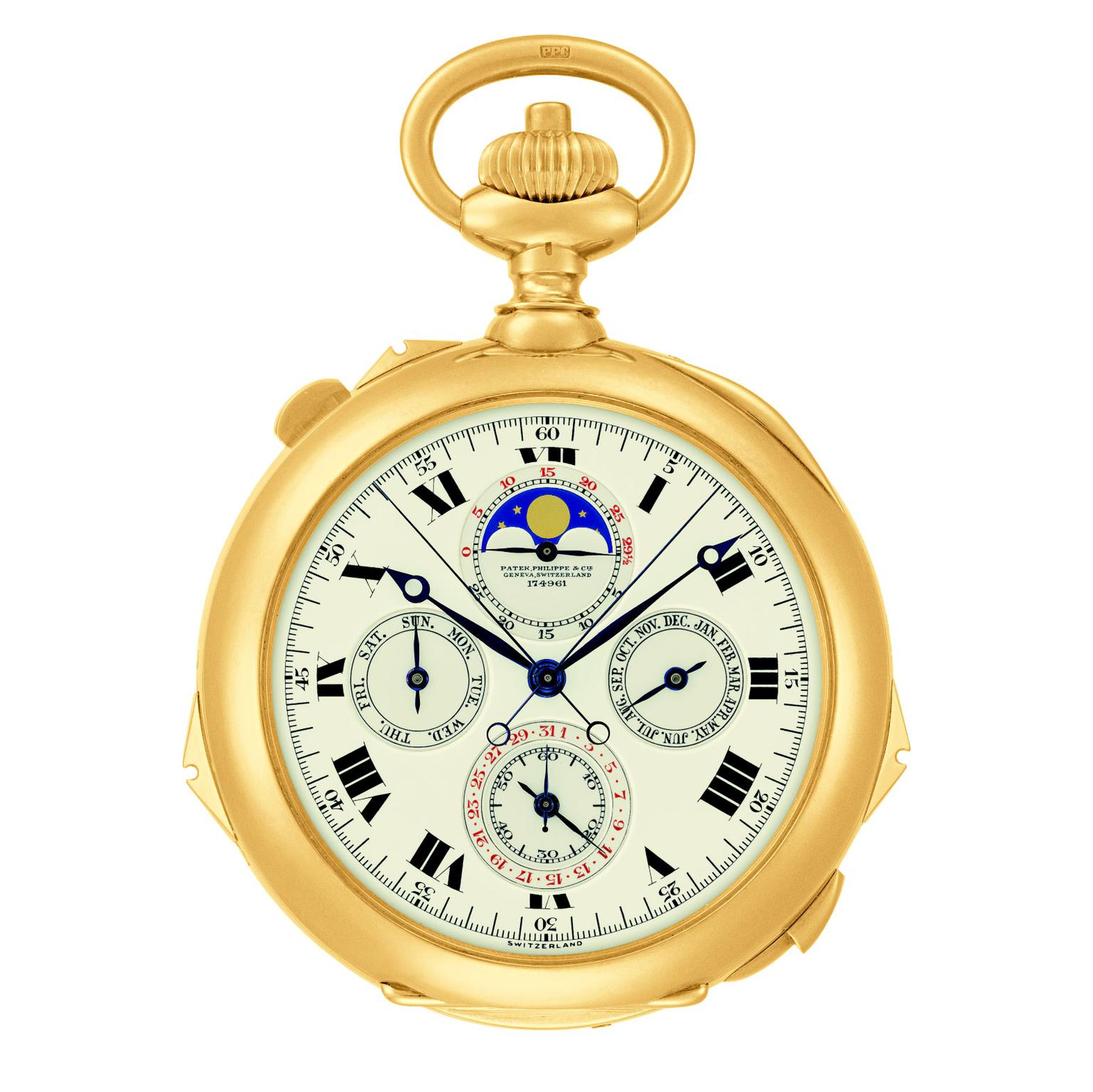 Patek Philippe's Henry Graves Supercomplication pocket watch 1926